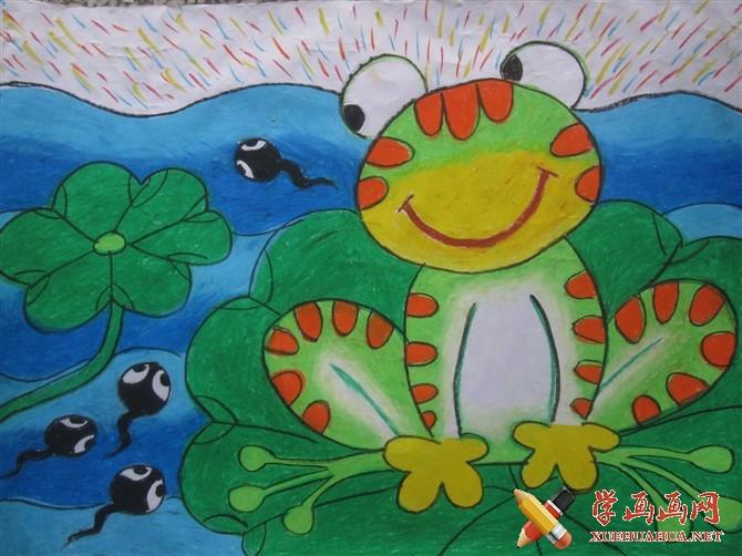优秀儿童画作品《小蝌蚪找妈妈》(1)