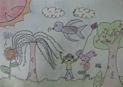 儿童画春天的图片大全【10张】(6)