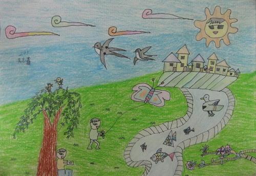 儿童画春天的图片大全【10张】(8)
