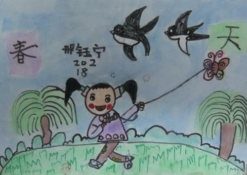 儿童画春天的图片大全【10张】(9)