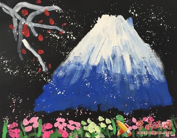 春天为主题的儿童画作品欣赏