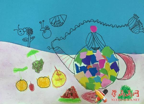 春天为主题的儿童画作品欣赏(5)