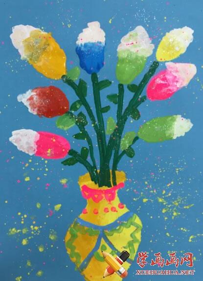 春天为主题的儿童画作品欣赏(7)