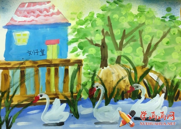 春天为主题的儿童画作品欣赏(8)
