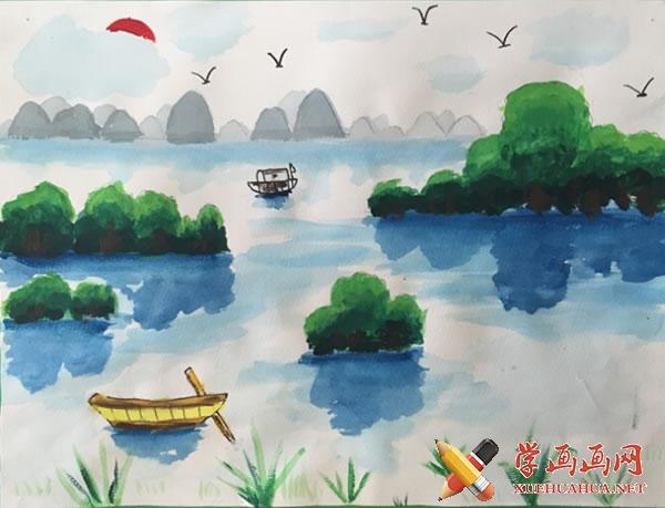 春天为主题的儿童画作品欣赏(9)