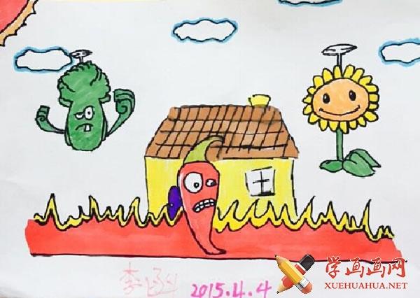 春天为主题的儿童画作品欣赏(10)