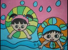 51幅关于夏天的儿童画画图片大全