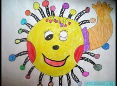 45幅关于太阳的儿童画图片大全