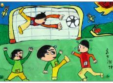 关于踢足球的儿童画画图片大全【45幅】