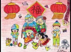 关于99重阳节(老人节)的儿童画图片大全 (11).jpg