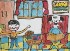 关于99重阳节(老人节)的儿童画图片大全 (2).jpg