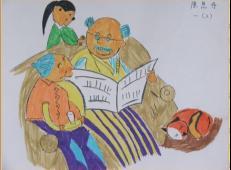 关于99重阳节(老人节)的儿童画图片大全 (9).jpg
