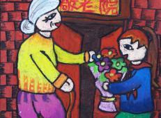 关于99重阳节(老人节)的儿童画图片大全 (14).jpg