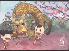 关于龙的儿童画图大全