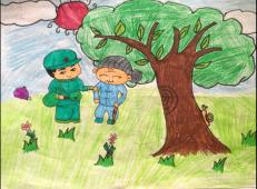 学雷锋做好事的儿童画画大全 (1).png