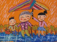 学雷锋做好事的儿童画画大全 (54).jpg