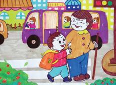 学雷锋做好事的儿童画画大全 (26).jpg