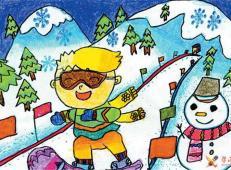 关于冬天和雪人的儿童画图片大全 (12).jpg