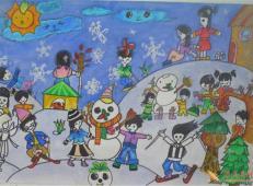 关于冬天和雪人的儿童画图片大全 (52).jpg