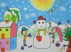 关于冬天和雪人的儿童画图片大全 (36).jpg