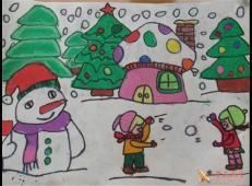 关于冬天和雪人的儿童画图片大全 (26).jpg
