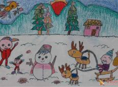 关于冬天和雪人的儿童画图片大全 (39).jpg