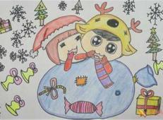 关于冬天和雪人的儿童画图片大全 (54).jpg