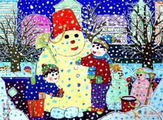 关于冬天和雪人的儿童画图片大全 (11).jpg