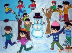 关于冬天和雪人的儿童画图片大全 (9).jpg