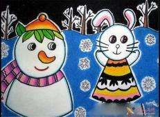 关于冬天和雪人的儿童画图片大全 (19).jpg