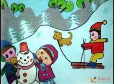 关于冬天和雪人的儿童画图片大全 (22).jpg