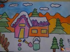关于冬天和雪人的儿童画图片大全 (29).jpg
