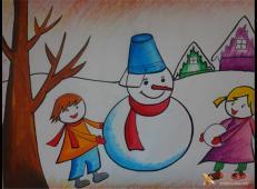 关于冬天和雪人的儿童画图片大全 (21).jpg