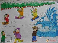 关于冬天和雪人的儿童画图片大全 (27).jpg