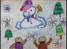 关于冬天和雪人的儿童画图片大全 (43).jpg