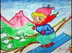 关于冬天和雪人的儿童画图片大全 (15).jpg