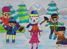 关于冬天和雪人的儿童画图片大全 (40).jpg