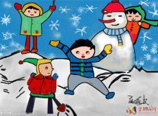 关于冬天和雪人的儿童画图片大全 (23).jpg