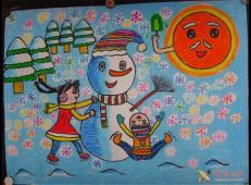 关于冬天和雪人的儿童画图片大全 (53).jpg