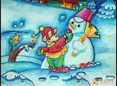 关于冬天和雪人的儿童画图片大全 (49).jpg