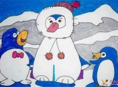 关于冬天和雪人的儿童画图片大全 (32).jpg