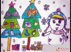 关于冬天和雪人的儿童画图片大全 (16).jpg