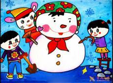 关于冬天和雪人的儿童画图片大全 (2).jpg