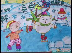 关于冬天和雪人的儿童画图片大全 (33).jpg