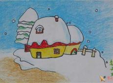 关于冬天和雪人的儿童画图片大全 (44).jpg