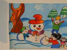 关于冬天和雪人的儿童画图片大全 (45).jpg