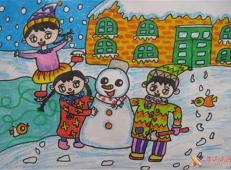 关于冬天和雪人的儿童画图片大全 (35).jpg
