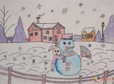 关于冬天和雪人的儿童画图片大全 (17).jpg