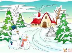 关于冬天和雪人的儿童画图片大全 (51).jpg