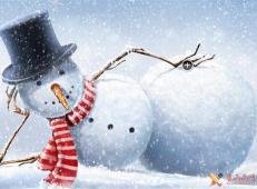 关于冬天和雪人的儿童画图片大全 (61).jpg